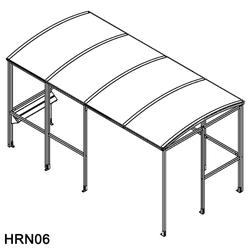 Horton Smoking Shelter with Integrated Seating image
