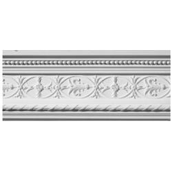 Ornate Reed & Ribbon Patterned Plaster Cornice image