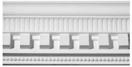 Rib & Dentil Plaster Cornice image