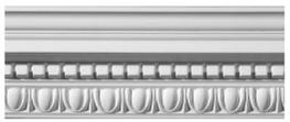 Classical Dentil With Egg & Dart Plaster Cornice image