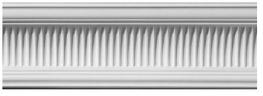 Large Ribbed Cove Plaster Cornice image