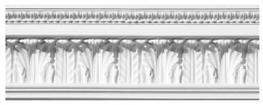 Waterleaf & Scroll Plaster Cornice image