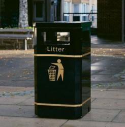 Albion Standard Steel Litter Bin image