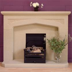 Stancliffe Stone offer all their customers choice – British sandstones, rich in colour, character and heritage – Why not choose our Stoke Hall Derbyshire sandstone for your natural stone fire surround.  The decorative tooled spandrels in our Longshaw stone...