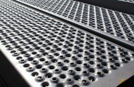 """Lichtgitter are now able to offer a """"Heel Proof Stairtread""""   The plank has a 5mm upward and downward hole, which gives the product high slip resistance properties.  Product is mainly used in public access areas ie Fire escapes in schools, university.Birdges, ..."""
