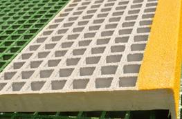 GRP stairtreads are supplied with a closed, black gritted nosing in widths 617 mm, 807 mm, 997 mm and 1226 mm as standard. We can guarantee solid meshes for tread depths of 236 mm, 274 mm and 312 mm. We can also provide different dimensions on request; please ...
