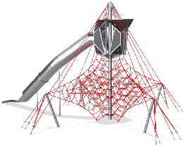 LARGE OCTA NET WITH SKY CABIN image