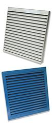 Kingfisher framed louvres and grilles provide a well-designed and robust cost effective solution for extract and intake air. Available for internal or external use as framed units with either a surrounding flange for wall mounted fixing or recessed to enable m...