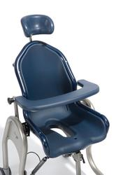 This shower toilet chair provides comfort and safety for children and adults with complex support needs.  The anatomically shaped seat offers excellent support to the user, and optional supports provide additional safety.  The seat can be adjusted to different...