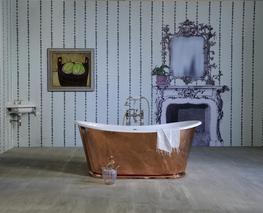 The Copper Usk Bateau Cast Iron Bath Tub image