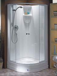 Sleek and elegant this attractive, curved quadrant style design is enhanced by sliding doors that glide open and shut with smooth, effortless efficiency.  Shower Pod Features h2100 x w900 x d900 Unique MGC (Marine Grade Composite) Rigid Construction Antibacter...
