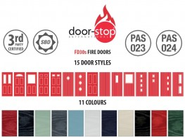 FD30s GRP Faced Solid Timber Core Fire Door Sets image