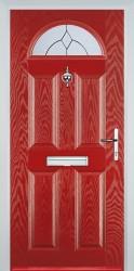 GRP Composite Doors 4 Panel 1 Arch image