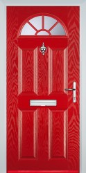 GRP Composite Doors 4 Panel Sunburst image