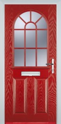 GRP Composite Doors 2 Panel Sunburst image