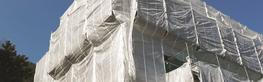 Many building projects are delayed or restricted during unfavourable weather conditions. Lobrene® scaffold sheeting protects contractors working on the building and allows progress to continue regardless of weather.  Safety is key when working on scaffolding....
