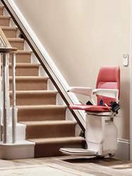 Stannah Stairlifts are the World's largest manufacturer of straight and curved Stairlifts, and probably the most well known.  The Stannah 420 Saxon model comes with either joystick or push button controls that can be fitted on either arm, allowing you to tra...