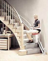 Stannah 260 stairlift for curved stairs image