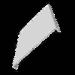 F605P 605mm Plain Fascia - Double Ended - White image