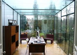 Room Outside Frameless Glass Extensions By Four Seasons
