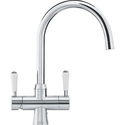 Franke Omni 4 in 1 Classic Instant Boiling Water Kettle Kitchen Sink Tap - Stainless Steel image