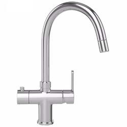 Franke Minerva 3 in 1 Kettle Kitchen Mixer Tap in Chrome image