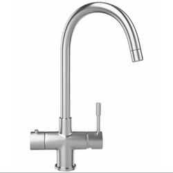 Franke Minerva Helix 3 in 1 Kettle Kitchen Mixer Tap in Stainless Steel  image