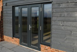 Triple glazed timber double doors (78mm depth) image
