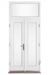 Double glazed timber aluminium composite double doors (63mm depth) - GreenSteps Ltd