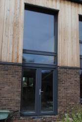 Triple glazed timber aluminium composite double doors (78mm depth) - GreenSteps Ltd