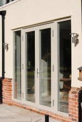 Triple glazed timber aluminium composite double doors (92mm depth) image