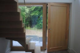 Triple glazed timber aluminium composite entrance doors (92mm) image