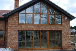 Triple glazed inward opening timber folding doors (78mm) image