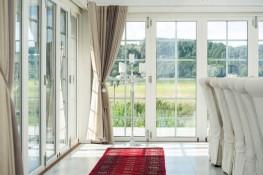 Double glazed outward opening timber aluminium composite folding doors (76mm) - GreenSteps Ltd