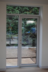 Scandinavian slimline double glazed timber aluminium composite doors (116mm) image