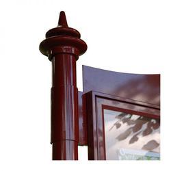 3 bay, single-sided, A1, A-Multi Decorative aluminium noticeboard, 2 bays glazed (Ref: AF30MD/TA12G) image