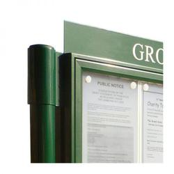 2 bay, single-sided, A1, A-Multi Contemporary, aluminium noticeboard, 1 bay glazed (Ref: AF30MC/DA11G) image