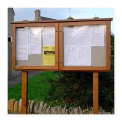 2-bay, 6 x A4 oak noticeboard (Ref: D6A4/O) image