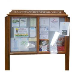 2-bay, 4 x A4 oak noticeboard, unglazed (Ref: DNU/O) image
