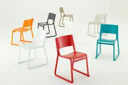 Theo chairs - Chorus Furniture - Beautiful wooden stacking chair image