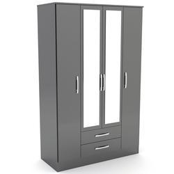 Lynx 4 Door Wardrobe - Black image