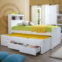 The Butterworth captain's bed is full of little surprises. Showcase their favourite toys and squirrel away the more precious ones in its hidden headboard storage compartment. Plus with it's roll out trundle bed it's perfect for sleepovers too.   2208mm (length...
