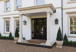 Porticos are covered areas leading up to the entrance of a building. They were much used in ancient Greece to provide shade.  Chilstone porticos are made to order. Our architectural team have a great deal of experience in designing porticos and will be delight...