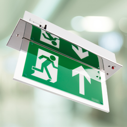 The Vale LED Exit Sign utilises LED technology with the added advantage of 'self-test' operation. The Vale  LED Exit Sign is designed to be fully recessed; available in several finishes allowing the unit to meet with the end users decorative requirements. ...