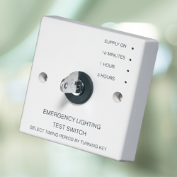 The Emergency Lighting Test Switch is a cost effective solution for the testing of emergency luminaires. It is a legal requirement that all emergency luminaires are tested on a regular basis to ensure they provide adequate escape illumination....