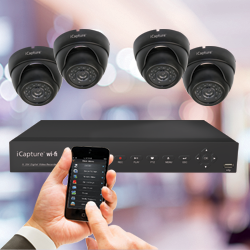 CCTV Kits — iCapture wi-fi (App Connect) Dome Camera Kit image
