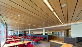 PLANK wall and ceiling system is available with standard and custom plank widths and spacing between planks. The PLANK system is quick and easy to install....