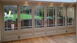 Timber bi-fold doors image