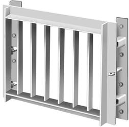 The Sewers for Adoption/Scotland compliant outfall safety grille should be used on outfalls of 350mm diameter or greater.  Manufactured from 70 x 70 x 10mm Steel Angle for the frame and 50 x 12mm Flat Bars at 100mm Spacing for the screen all fully galvanised ...