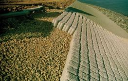 Ecologically sensitive, able to withstand and dissipate heavy storm wave impact and easily mechanically installed without key pieces on sloping, straight and bending revetments.  The specially developed and tested shape of the Hydroblocks® create a repetiti...